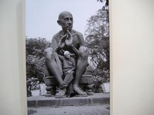 In Mahatma Gandhi's lap - Bhupek Khakkar as seen by Ram Rehman