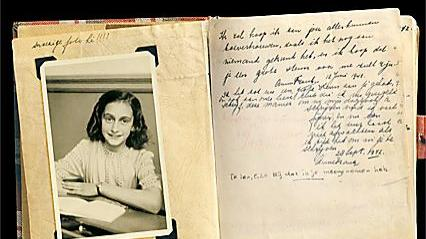 A Leaf from Diary of Anne Frank